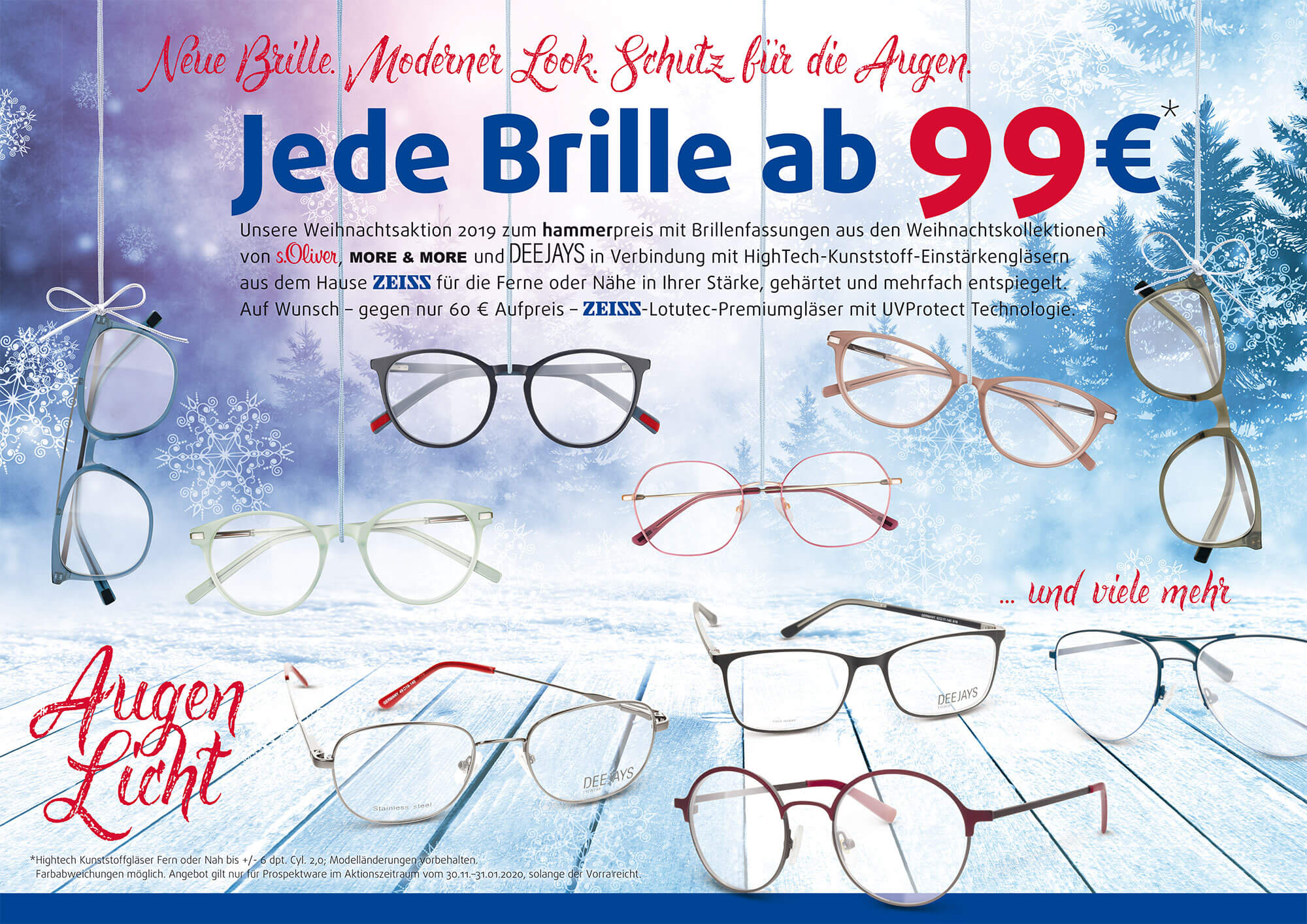 Weihnachtsaktion 2019 – Jede Brille ab 99€