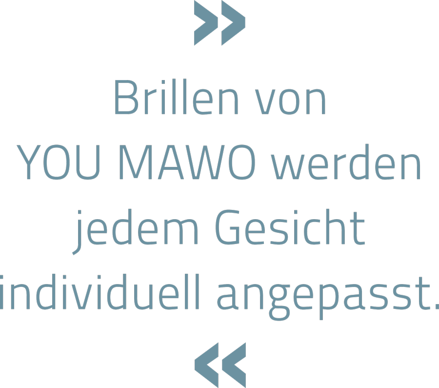 » Brillen von YOU MAWO werden jedem Gesicht individuell angepasst. «